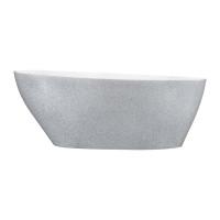Ванна вільностояча Besco Goya Glam 160 срібна 160x70 без переливу