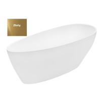 Ванна вільностояча Besco Goya Glam 160 золота 160x70 без переливу