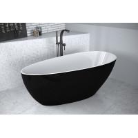 Ванна вільностояча Besco Goya B&W 160 чорно-біла 160x70 без переливу