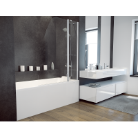 Штора для ванни Besco Avis 120x145 прозоре скло
