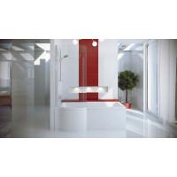 Штора для ванны Besco Inspiro левая 76x150 прозрачное стекло
