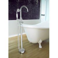 Підлоговий змішувач для ванни Besco Retro I chrom