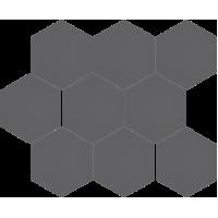 Мозаїка Cerrad Cambia grafit lappato heksagon 27,53x33,4 (36736)