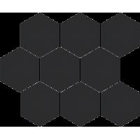 Мозаїка Cerrad Cambia black lappato heksagon 27,53x33,4 (36729)