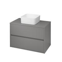 Шафка універсальна Cersanit CREA 80 сірий мат (S924-018)