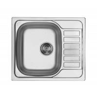 Кухонна мийка стальна 1 чаша з крилом для сушки Deante Soul декор (ZEO 311A)
