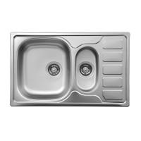 Кухонна мийка стальна 1,5 чаші з крилом для сушки Deante Soul декор (ZEO 3513)