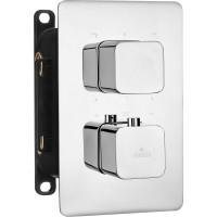 Термостатичний змішувач прихованого монтажу з перемикачем на душ Deante Box хром (BXY 0ECT)
