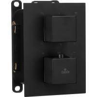 Термостатичний змішувач прихованого монтажу з перемикачем на душ Deante Box чорни (BXY NEAT)