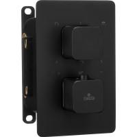 Термостатичний змішувач прихованого монтажу з перемикачем на душ Deante Box чорний (BXY NECT)