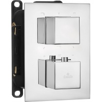 Термостатичний змішувач прихованого монтажу з перемикачем на душ Deante Box хром (BXY 0EAT)