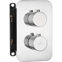 Термостатичний змішувач прихованого монтажу з перемикачем на душ Deante Box хром (BXY 0EBT)