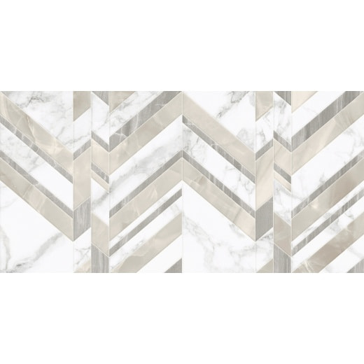 Плитка Golden Tile Marmo Bianco Chevron 30x60 (G7015)