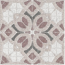 плитка Golden Tile Sabbia Flower бежева 30х30 (7F174)