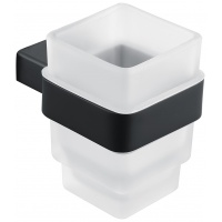Склянка для зубних щіток Asignatura Unique чорний матовий (85601802)