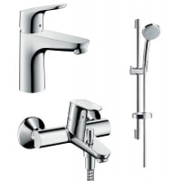 Набір змішувачів для ванни Hansgrohe Focus 3 в 1 (31607000+27772000+31940000)