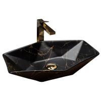 умивальник Rea Vegas 37x57 black marble (REA-U0994)
